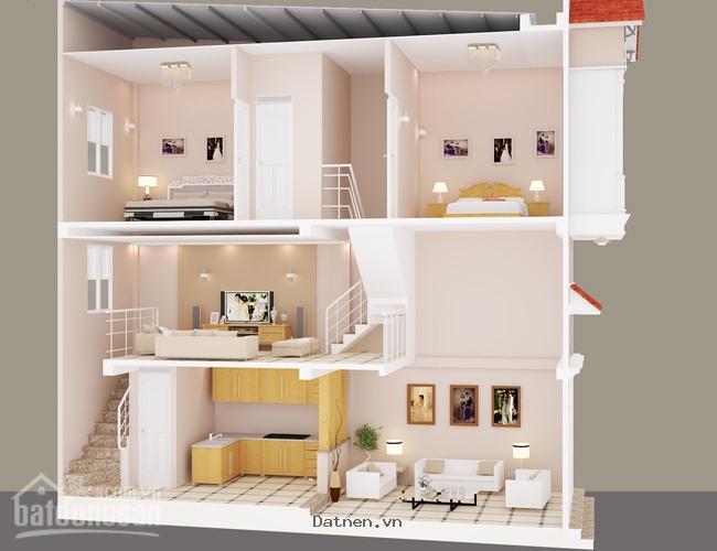 Nhà mới nguyên căn, đúc thật: 815tr/can đường Huỳnh Tấn Phát