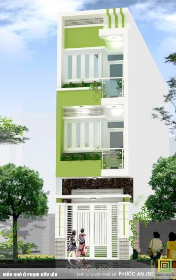 Nhà mới  xây, 3 tầng  mặt tiền Phạm Hữu Lầu,giá 1 tỷ,.