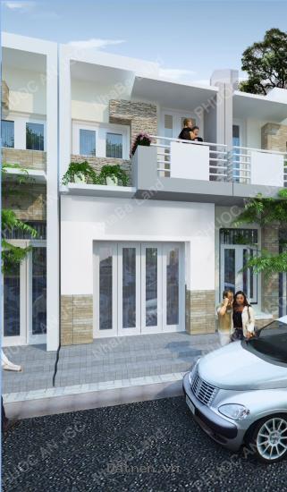 Nhà phố giá rẻ đường Lê Văn Lương  Nhơn Đức Nhà Bè,thiết kế hiện đại,555 tr/căn.