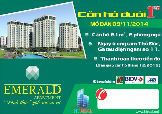 Mở bán căn hộ vị trí đẹp nhất khu Đông, vị trí vàng cho cuộc sống vàng