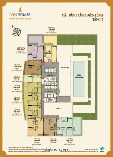 Bán căn hộ cao cấp Vinhomes Nguyễn Chí Thanh, liên hệ 0943466689