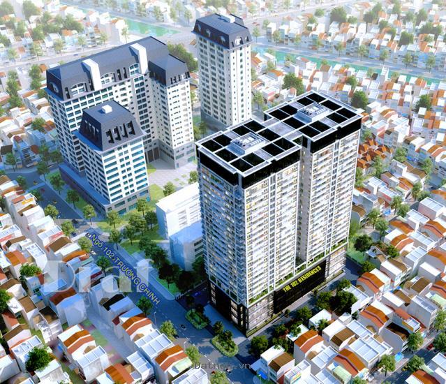 Chủ đầu tư phân phối chung cư 102 Trường Chinh, dt từ 94m, giá từ 28tr/m2.