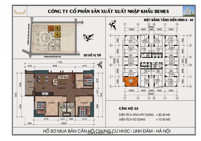 Bán căn góc chung cư linh đàm 2232 hh3c 3 phòng ngủ chênh 30 tr