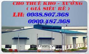 cho thuê: 4 nhà xưởng(1.200m2;1.400m2,1.600m2; 2.000m2)Tỉnh Lộ 10 Bình Chánh