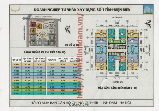 Cần tiến bán gấp căn 2 phòng ngủ 2 vệ sinh  65 m2 chung cư HH1B Linh Đàm