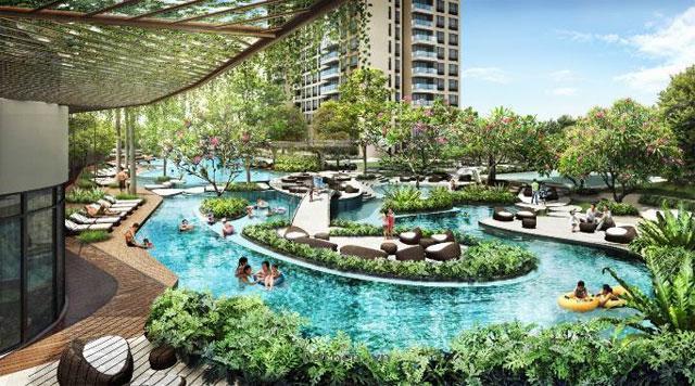 Bán căn hộ Q2 mặt tiền Xa Lộ Hà Nội, gần cầu Sài Gòn, view hồ bơi, giá 37tr/m2
