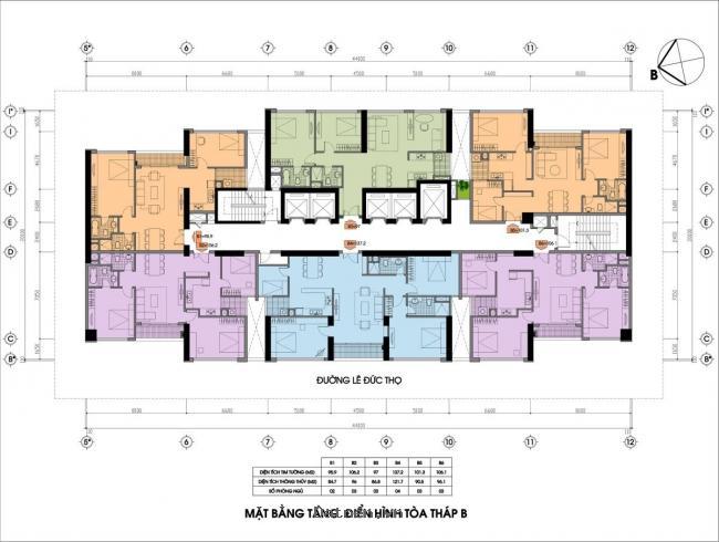 Bán chung cư Sun Square 21 Lê Đức Thọ, tòa B, 91m2 $0983942699$