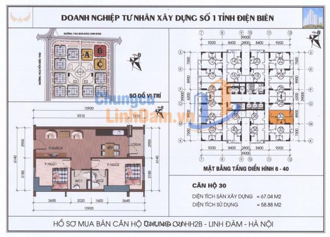 Bán căn 2 phòng ngủ hướng công viên và hồ Linh Đàm, chênh thấp