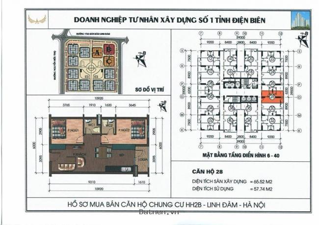 Tôi có căn hộ 2 phòng ngủ tầng 3 chung cư hh2b linh đàm cần bán