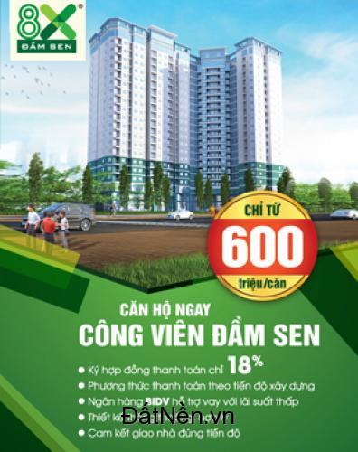 Bán căn hộ mới 100% quận Tân phú thuộc dự án 8X Đầm Sen giá tốt nhất 2016
