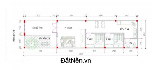 Nhà cấp 4,đuờng bêtông 4m.cách chợ Phú ChánhA 500m