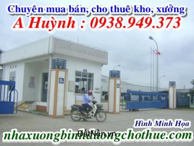 Cho thuê kho, xưởng, gần KCN Mỹ Phước, Bến Cát, 11.000m2, LH 0938949373