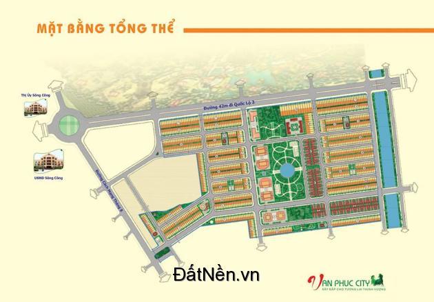 Bán đất nền dự án rẻ nhất Thành phố sông công