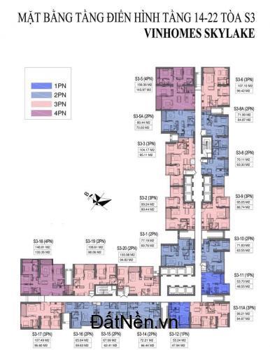 Độc quyền căn hộ ven hồ 19 hecta đẹp nhất dự án Vinhomes Sky Lake Phạm Hùng - LH: 0964.433.678