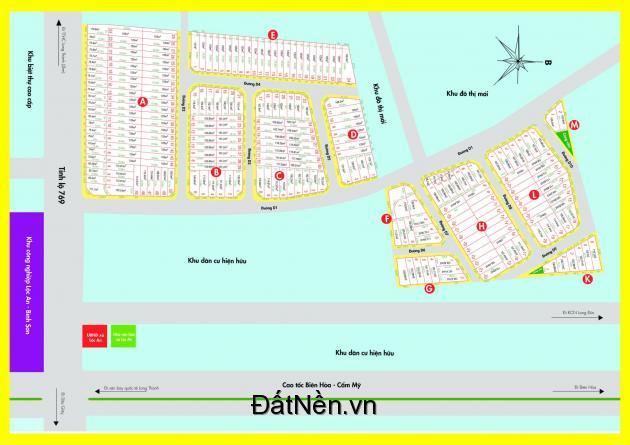 Đất Nền Sân Bay Long Thành, chỉ 195tr/100m2 cam kết sinh lời 40%. LH: 0908585677