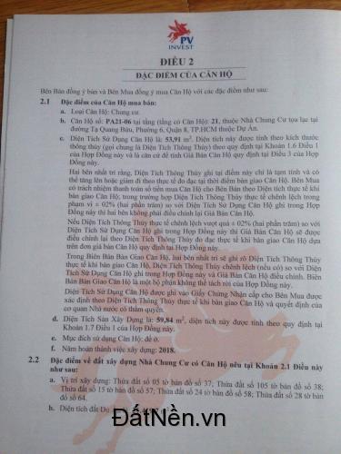 Chính chủ cần bán căn hộ The PegaSuite mặt tiền Tạ Quang Bửu Q,8 giá tốt.