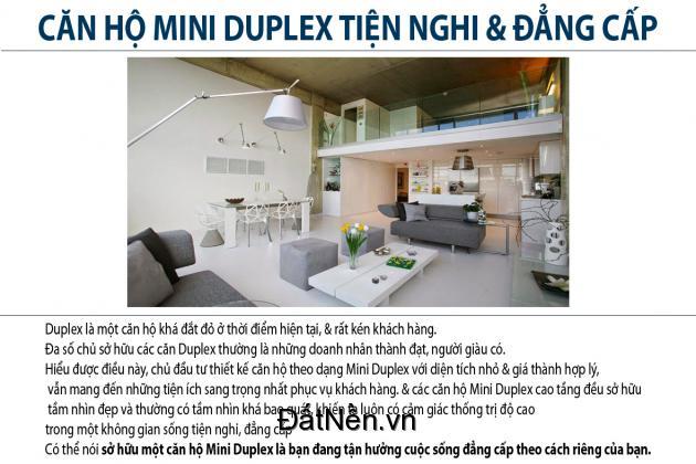 sở hữu căn hộ Mini Duplex 2 phòng ngủ ngay sát bến Nhà Rồng 2ty1