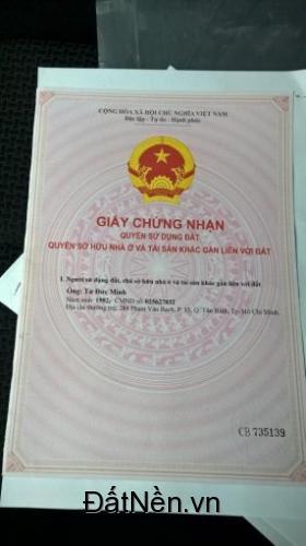 Cần tiền bán gấp lô đất mặt tiền đường Lê Hồng Phong TT Dầu Tiếng Bình Dương