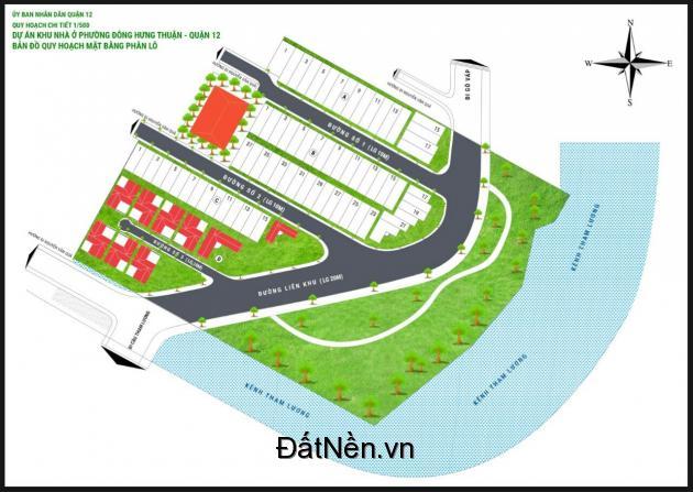 Đất nền KDC Tham lương Riverside, Nguyễn Văn Quá, q12- Nơi đầu tư lý tưởng