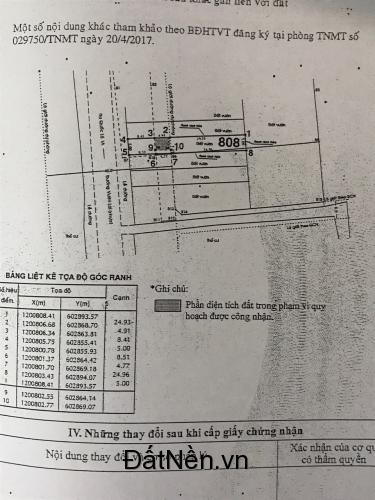 Chính chủ bán lô đất mặt tiền vườn lài dt 191m2 giá 6,6 tỷ sổ hồng riêng