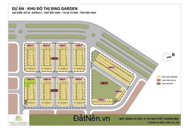 Nhà phố thương mại Sing garden - mảnh đất vàng tại cửa ngõ KCN Vsip chính thức khởi công