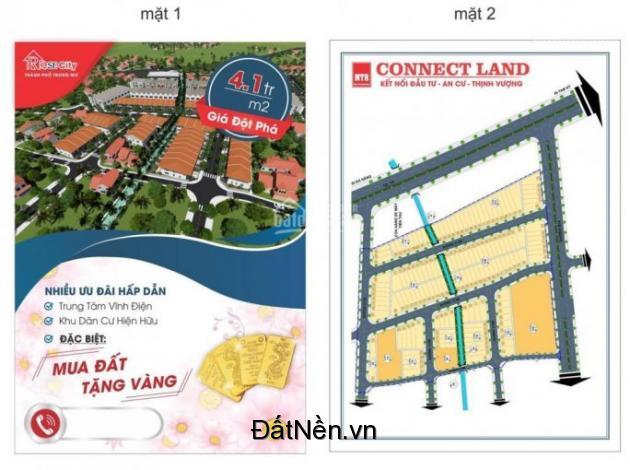 Bán đất nền TT TX Vĩnh điện, liền kề chợ và Trường Phan Châu Trinh, giá 4,1tr/m2