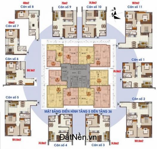 Tôi cần bán căn hộ tòa D diện tích 74.8m2, tòa D Kim Văn Kim Lũ Vinaconex2 / Giá: 20.5 tr/m2
