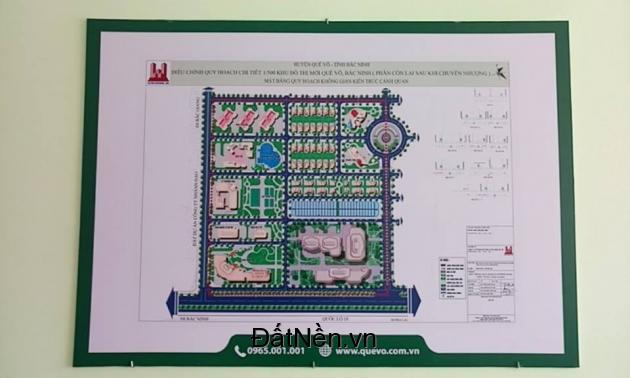 Mở bán lô đất dự án đang Hot nhất khu đô thị mới Quế Võ - Bắc Ninh.