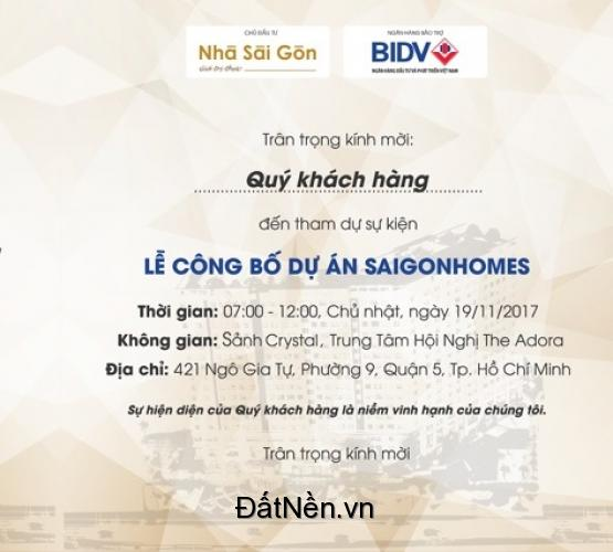 Lễ Công Bố Dự Án Căn Hộ Saigonhomes - Bình Tân