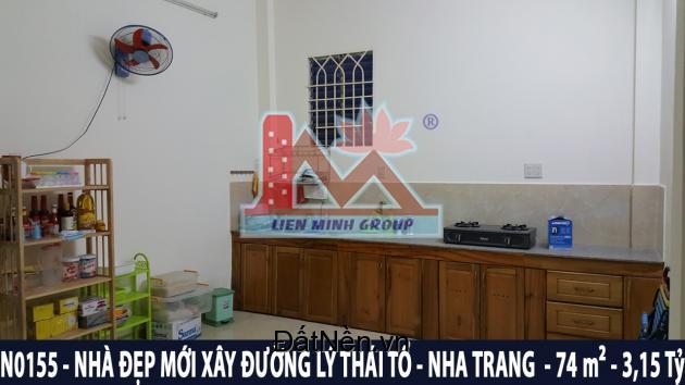 N0155 - Bán nhà 3 tầng mới xây đường Lý Thái Tổ, Vĩnh Hòa, Nha Trang