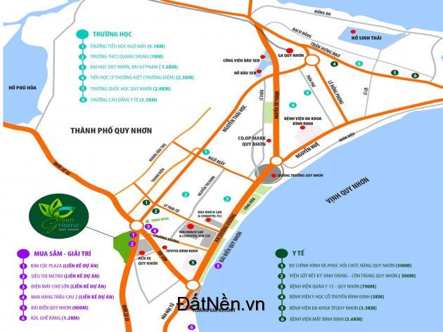 Đất nền Green Home Quy Nhơn xây dựng tự do thích hợp kinh doanh khách sạn, karaoke..
