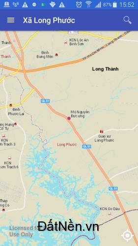 Bán đất xã Long Phước, Long Thành 400tr/ nền