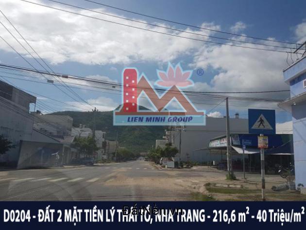 D0204 - Bán đất đẹp hai mặt tiền đường Lý Thái Tổ, Vĩnh Hòa, Nha Trang