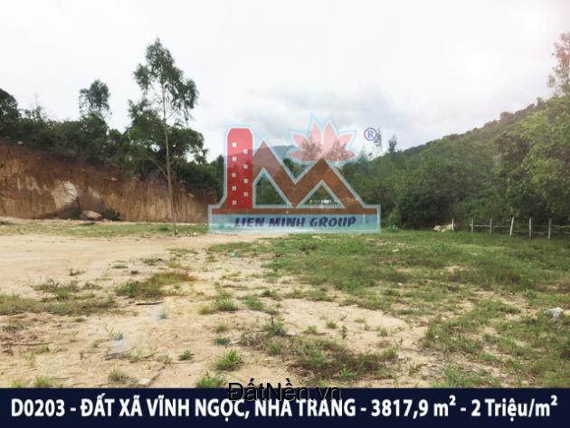 D0203 - Đất diện tích lớn+đường ô tô gần trường ĐH Thái Bình Dương, Vĩnh Ngọc, Nha Trang