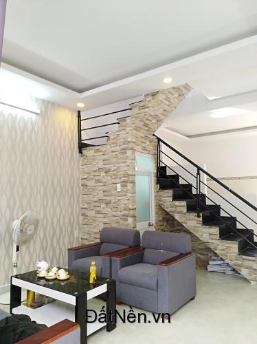 Tôi có căn nhà đẹp mới xây thiết kế 1 trệt 1 lầu, diện tích sử dụng 80m2, Gần bệnh viện Xuyên Á