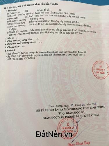 Đất mặt tiền hẻm 99 Lê Hồng Phong, Phú Lợi, Thủ Dầu Một, Bình Dương giá rẻ, SH riêng.