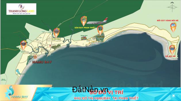 Đất TTTM HamuBay, mặt tiền biển Phan Thiết phù hợp kinh doanh nhà hàng,khách sạn
