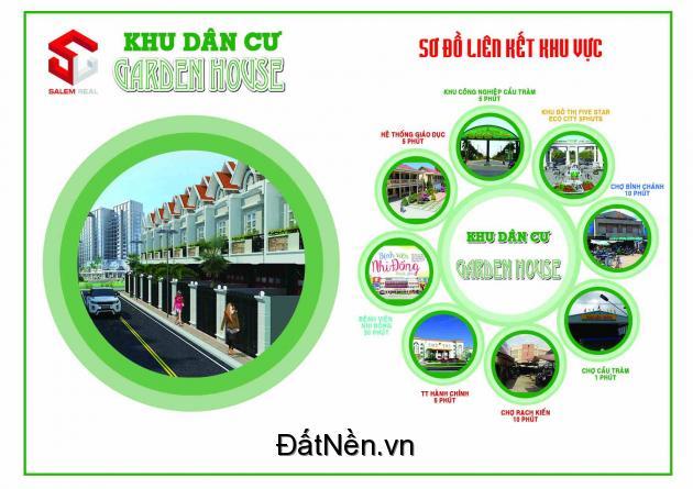 Bắt đầu mở bán nhà hoàn thiện KDC Garden House gần chợ Bình Chánh với mức giá ưu đãi