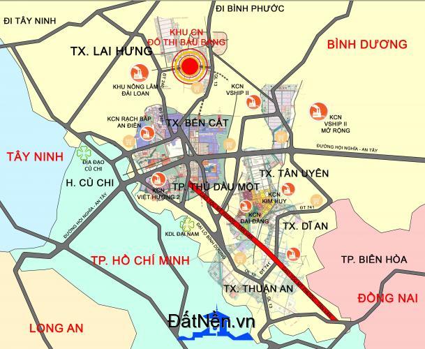 Bán Khu nhà ở khu công nghiệp Bàu Bàng - Bến Cát - Bình Dương giá chỉ từ 1tỷ240 đến 2tỷ420 tùy theo vị trí.LH : 0901549373 để được tư vấn.