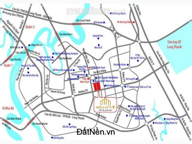 Bán đất nền dự án Mega city 2 sieu đô thị TPHCM