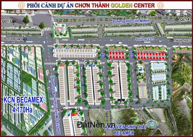 Mở bán Dự án Chơn Thành Golden Land diện tích 5x40 giá 380 triệu