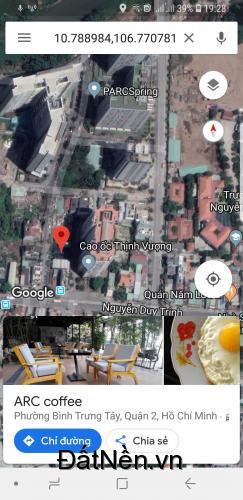 Cần bán lô biệt thự Q2 cách Nguyễn Duy Trinh 100m. Dt 210m2. Lh: 0938551006
