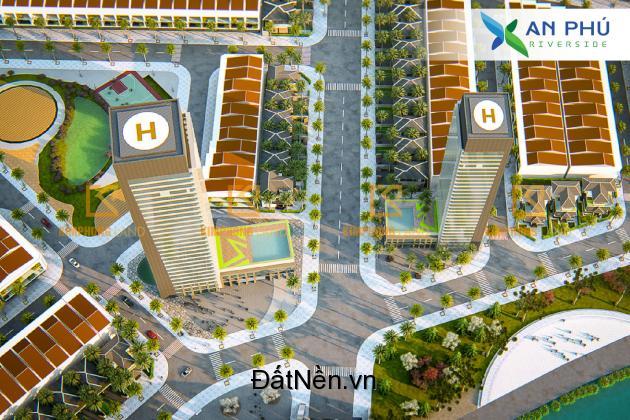 Bán đất dự án An Phú Riverside, view sông Cổ Cò, hỗ trợ vay vốn 70%, Chiết khấu lên đến 9%