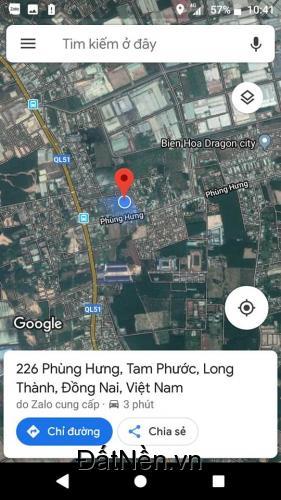 Đất nền Biên Hòa, liền kề KCN Tam Phước, gần chợ, Dân Cư Hiện Hữu 7.tr/m2