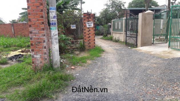 Bán miếng đất đường Nguyễn Thị Ngâu, cách chợ Hóc Môn 2km, SHR.