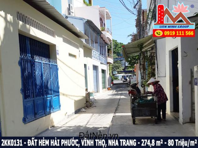 Bán đất gần tháp bà Ponaga hẻm đường Hải Phước, Vĩnh Thọ, Nha Trang