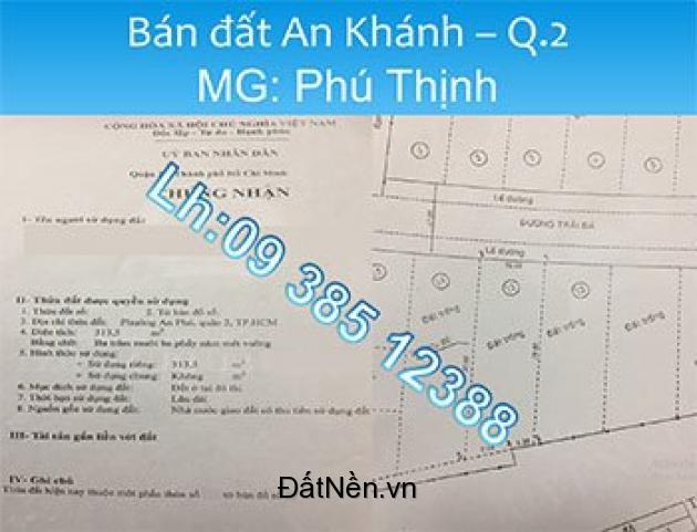 Bán đất, đường số 2, An Phú(ngay ga Metro Rạch Chiếc), Q. 2