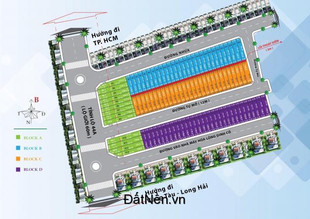 Sở hữu ngay đất nền giá CĐT 7.9tr/m2 dự án Dragon Seagate 1 Bà Rịa - Vũng Tàu.