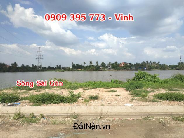 Đất nhà phố, biệt thự mặt tiền sông Sài Gòn giá 4,2 tỷ/lô 170m2, đường TL 15, P.Thạnh Lộc, Q.12