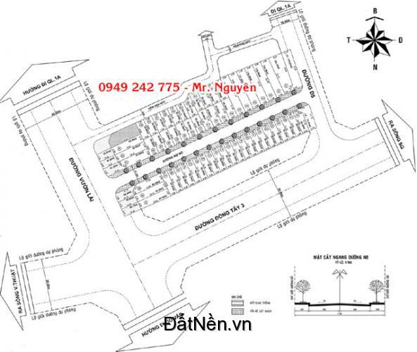 Đất 1 sẹc Vườn Lài giá 50tr/m2, P. An Phú Đông, Q.12  Phù hợp kinh doanh, buôn bán, mở Cty, văn phòng,